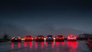 Wettest shoot in history - rear lights