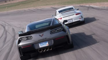 ZO6 v 911 GT3 US - rear tracking