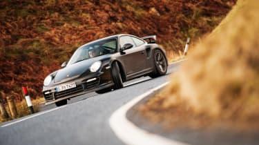 Porsche 911 GT2 RS & Mercedes-Benz SLS AMG Black Series - front slide