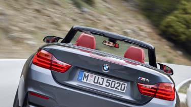 BMW M4 Convertible grey rear view