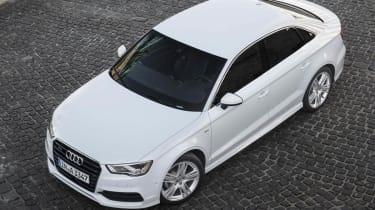 2013 Audi A3 Saloon white front
