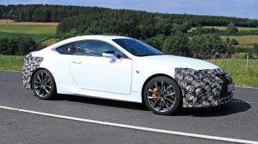 Lexus RC facelift spy - side