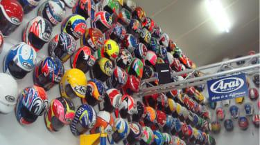 Arai track helmets