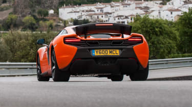McLaren 650S rear air brake