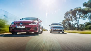 VW Golf GTE and VW Golf GTI