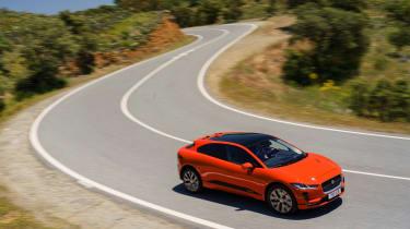Jaguar I-Pace driving - cornering