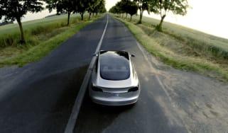 Tesla Model 3 silver rear
