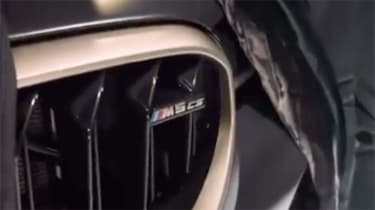 BMW M5 CS teaser grille