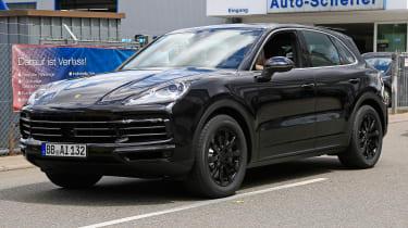 Porsche Cayenne spy shot front 3.4