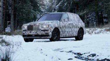 Rolls-Royce Cullinan winter testing