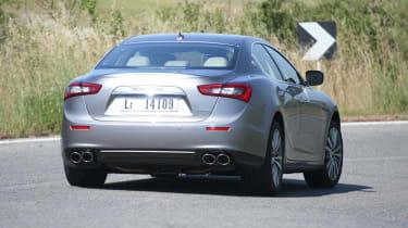 Maserati Ghibli cornering rear