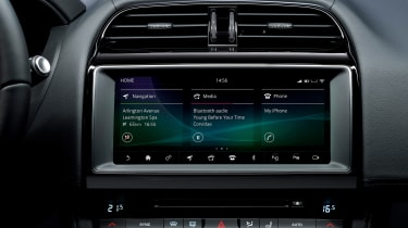 Jaguar 300 Sport models – infotainment screen