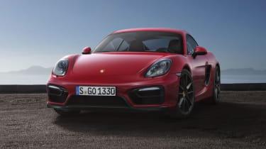 Porsche Cayman GTS red front