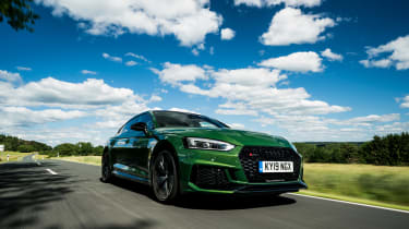 Audi RS5 Sportback review - front quarter