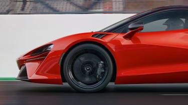 McLaren Artura revealed - orange wheel
