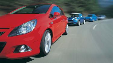 Vauxhall Corsa VXR group test