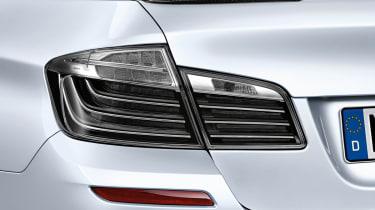 BMW M5 clear rear lights