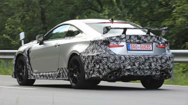 Lexus RC F GT spy - rear quarter