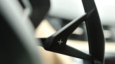 Lamborghini Aventador gear shift paddle