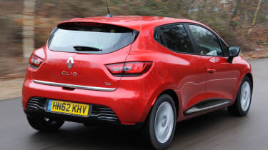 2013 Renault Clio red rear