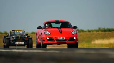 evo Trackday Bedford 27AUG - Porsche Cayman R