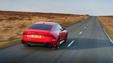 Audi RS7 red - rear car to car