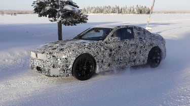 2022 BMW M2 spied front quarter