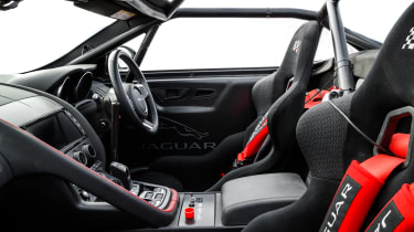Jaguar F-Type rally car - dash