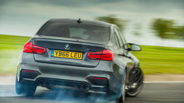 BMW M3 Competition Package –rear on track