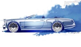 Bentley Mulsanne Convertible Concept roof down open
