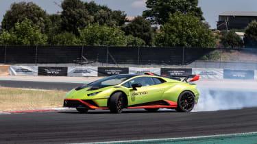 Lamborghini Huracan STO (International) – front quarter action1