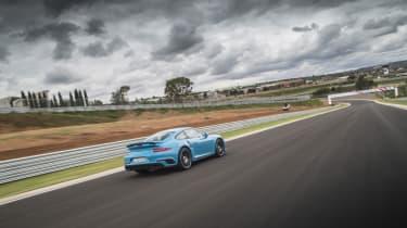 991.2 Porsche 911 Turbo S - rear driving shot 4