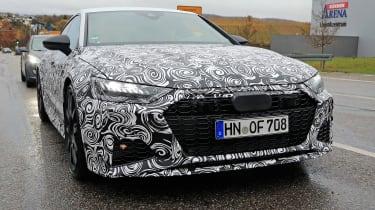 Audi RS7 body-on spy - front quarter