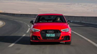 Audi RS3 Saloon Red front 3