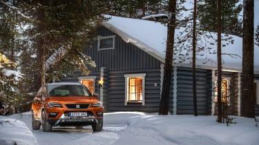 SEAT Ateca snow cabin
