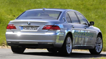 BMW hydrogen 7 rear quarter