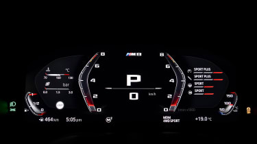BMW M8 Competition prototype - dials