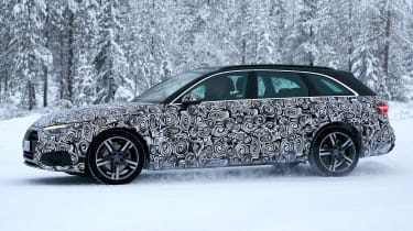 New Audi A4 spied side