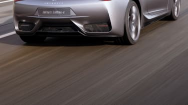 Infiniti Emerg-e rear driving