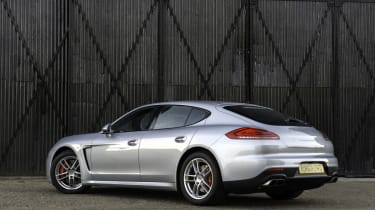 New Porsche Panamera Turbo silver rear