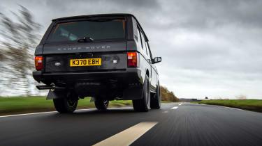 Bishops Heritage Range Rover – rear tracking