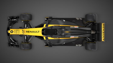 Renault Sport R.S.17 2017 Formula One car over head