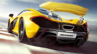 McLaren P1 rear spoiler up