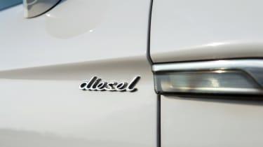 Porsche Panamera Diesel badge