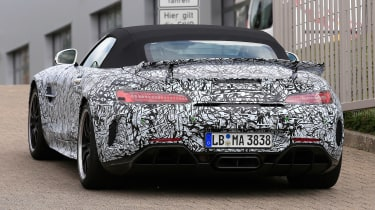 Mercedes-AMG GT R roadster spy - rear