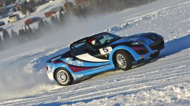 evo goes Mazda MX-5 ice racing