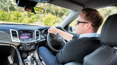 Vauxhall VXR8 GTS interior driving