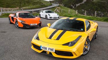 evo Magazine August 2014 - Ferrari 458 Speciale v McLaren 650S v Porsche 911 GT3