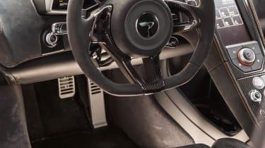 McLaren 650S interior steering wheel