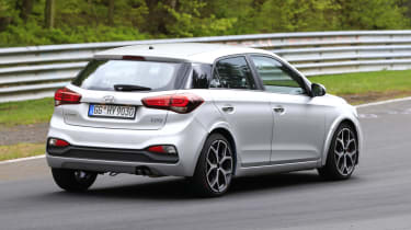 Hyundai i20 N spy - rear